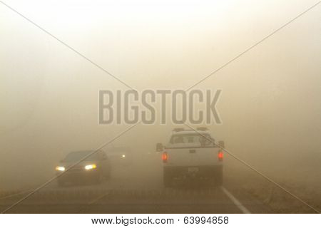Driving in Sand Storm