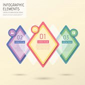 vector illustration abstract creative rhombus infographics design poster