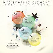 modern vector abstract translucent glass beads infographic elements poster