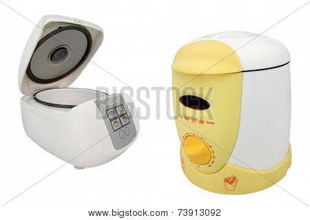 deep-fryer isolated under the white background