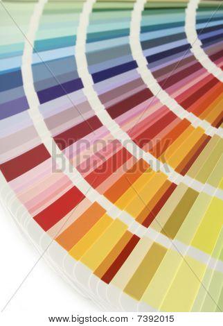 Color Chart Fan