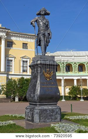Monument to Paul I on the square at the Pavlovsk Palace ( architect, Charles Cameron ) in Pavlovsk, Saint Petersburg, Russia poster