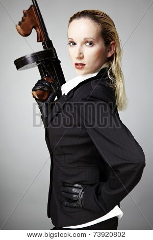 Lady With Tommy Gun
