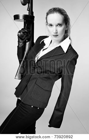 Nice Girl With Tommy Gun