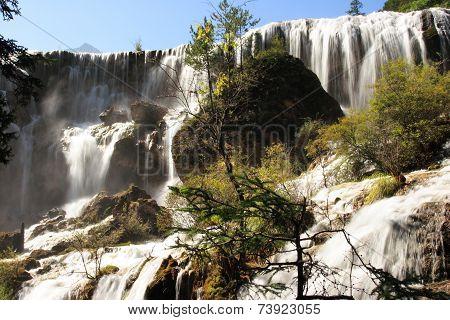 waterfall of Huanglong national park, China