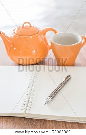 Work Table With Hot Tea