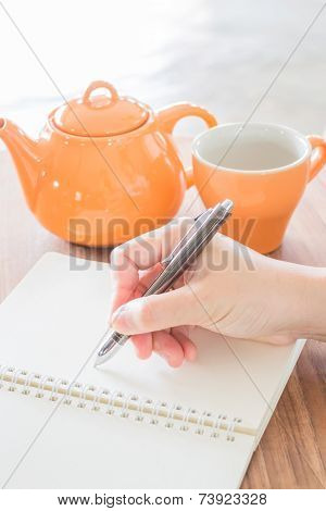 Hand Writing On Green Read Note Paper