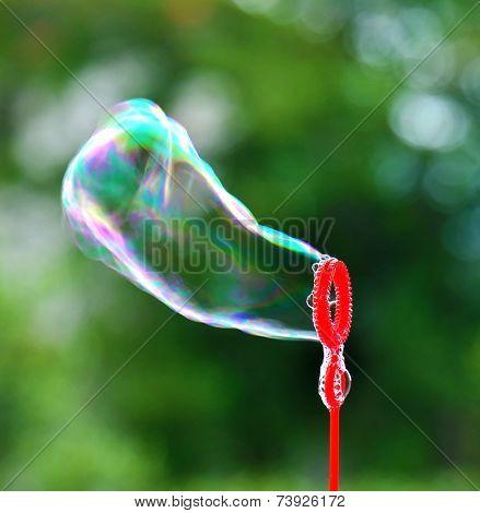Soap bubble blowing