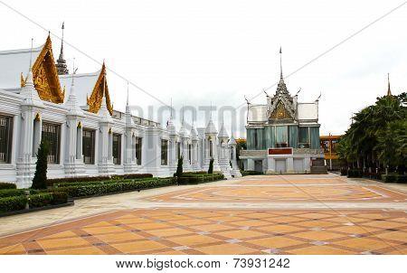 Wat Tha Sung Temple in Uthai Thani Thailand. poster