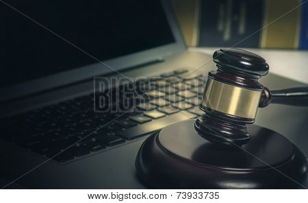 Legal cyber law concept image