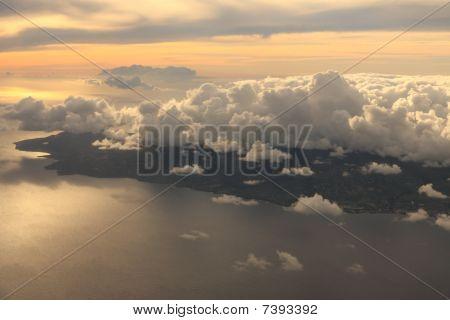 Aerial view of Antigua Island