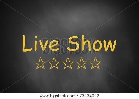 Black Chalkboard Live Show Golden Stars