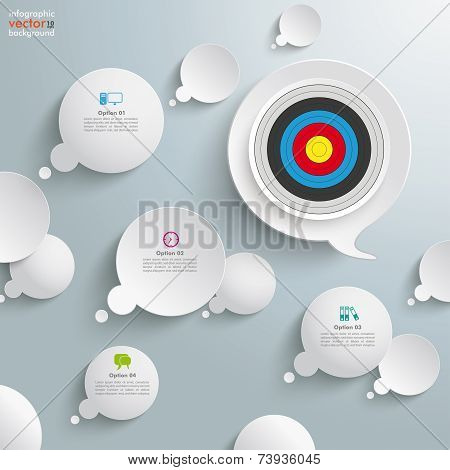 White Thought And Speech Bubbles Target
