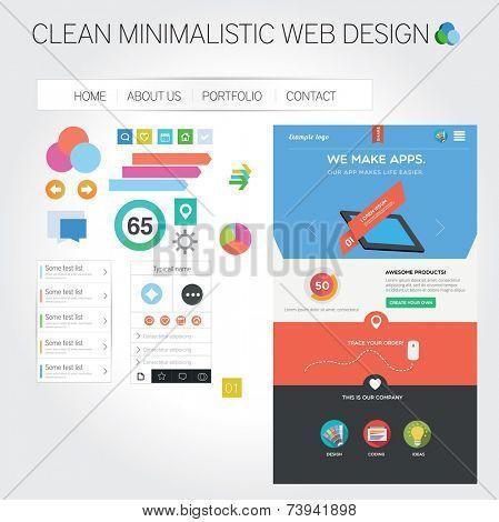 Web template + web graphics