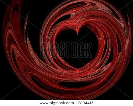 Red Fractal Heart