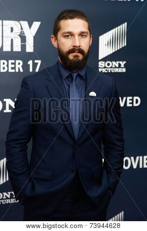 NEW YORK-OCT 15: Actor Shia LaBeouf attends the world premiere of