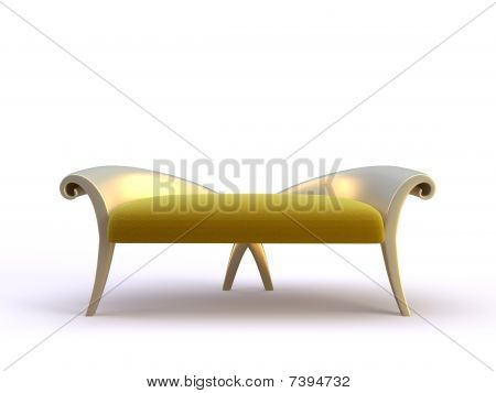 stylish 3d sofa on the white background poster