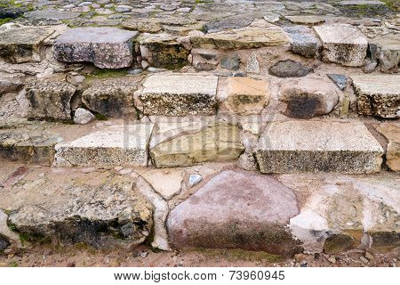 Stone staircase background
