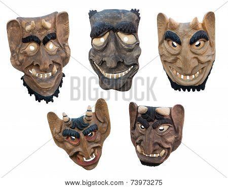 Lithuanian Wooden Masks