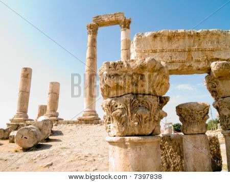 Temple Of Hercules In Amman Citadel