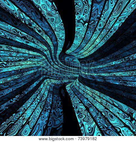 Abstract color tunnel