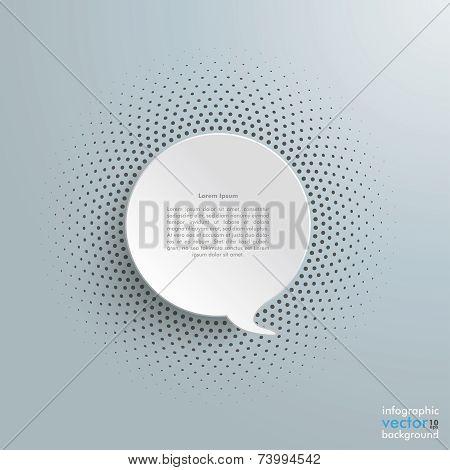 Speech Bubble Halftone