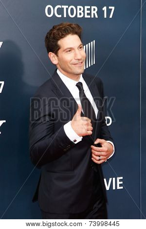 WASHINGTON, DC-OCT 15: Actor Jon Bernthal attends the world premiere of