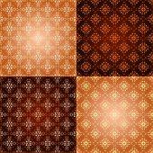 Set filigree damask seamless patterns. Royal wallpaper. poster