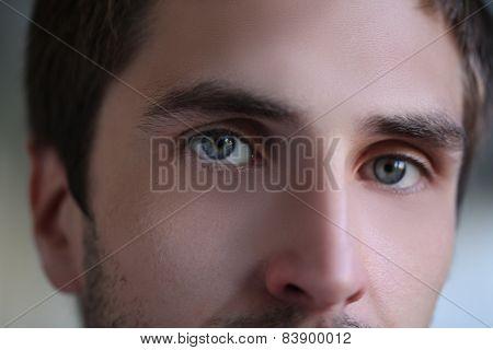 Male Eyes Close Up