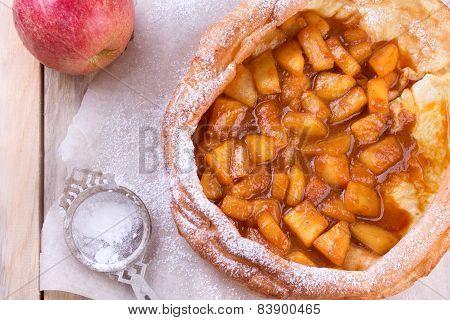 Dutch Baby Pancake With Apple.