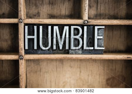 Humble Concept Metal Letterpress Word In Drawer