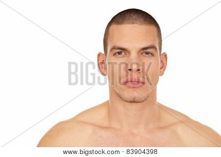 Profil of man without shirt