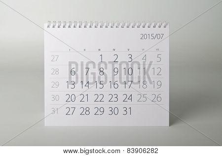 2015 Year Calendar. July