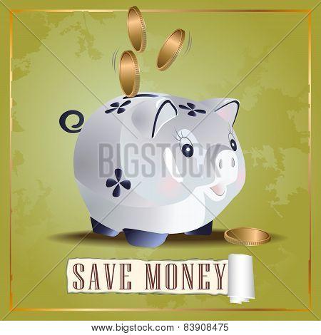 Save money cash pig
