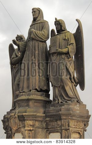 Statue of St. Francis Seraphic in Prague