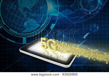 Tablet Pc With 5G And Super Speed Downloading Data
