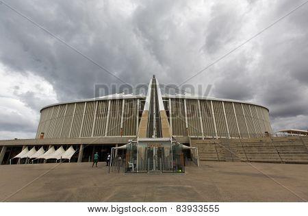 Arch Going Up The Moses Mabhida Stadium