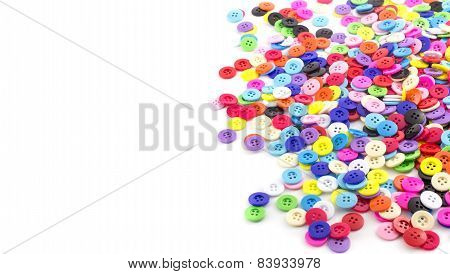 Heap Of Colorful Clasper On White
