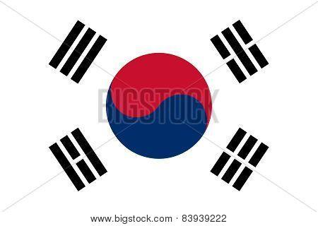 The Official Flag Of South Korea