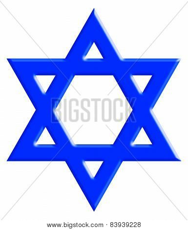 Star Of David With Clipping Path