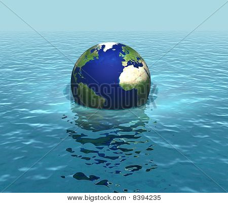 Rising sea levels, global warming, flooding