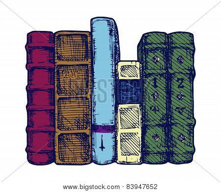 Row Of Books.