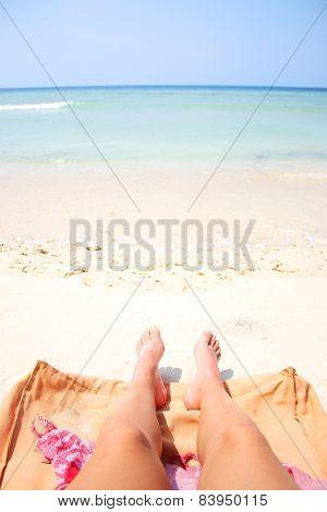 Summer Legs On The Beach