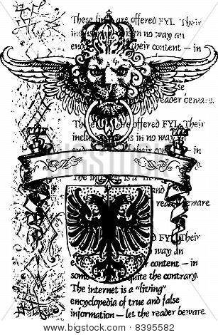 heraldic royal emblem