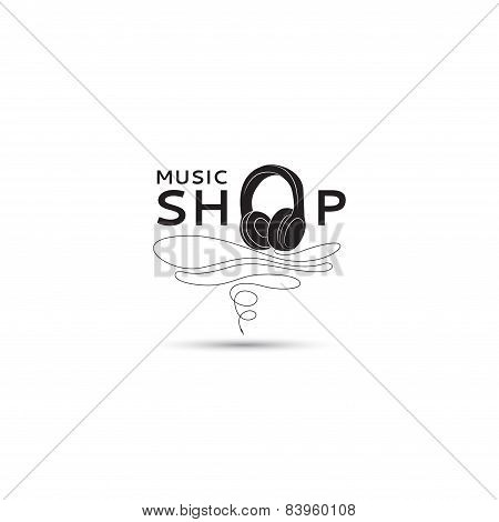Vector Music Shop Template Logo