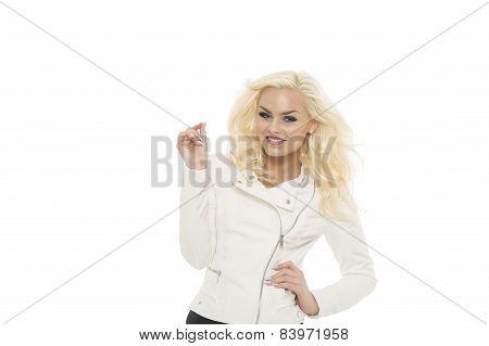 Happy Vivacious Gorgeous Blond Woman