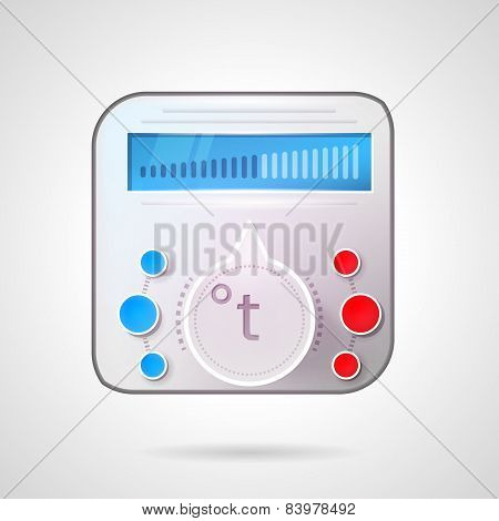 Colored vector illustration of temperature regulator