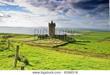 Ancient Old Irish Castle In Doolin, Ireland
