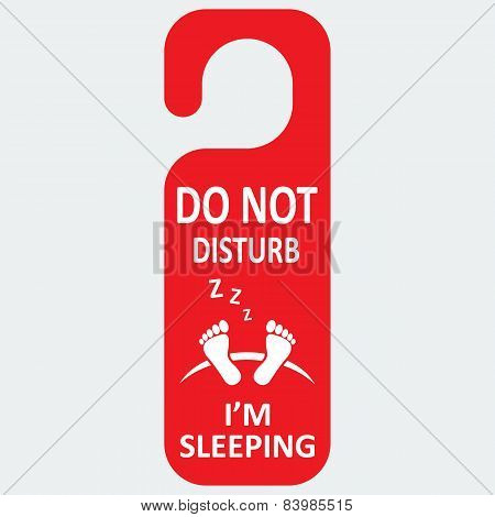 Vector hotel tag do not disturb with sleeping icon
