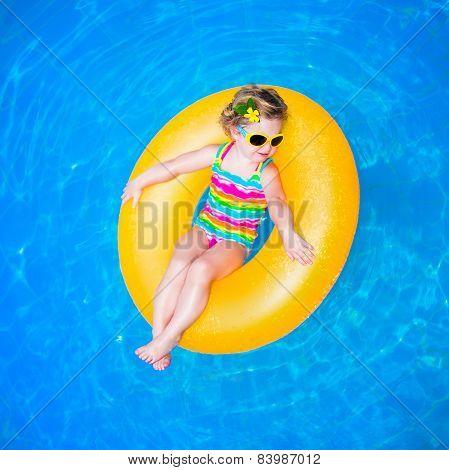 Baby Girl In Swimming Pool